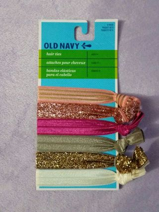 Free  OLD NAVY ASSORTED COLORS 6 PACK RIBBON HAIR TIES • must pay ... 61326d6ba90