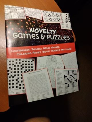 Novelty Games and Puzzles Book