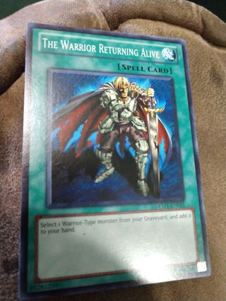 Yu-Gi-Oh card - The Warrior Returning Alive