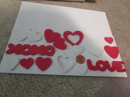 2nd set-14 love foam stickers