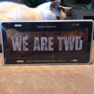 The Walking dead license plate NEW still in Cellophane