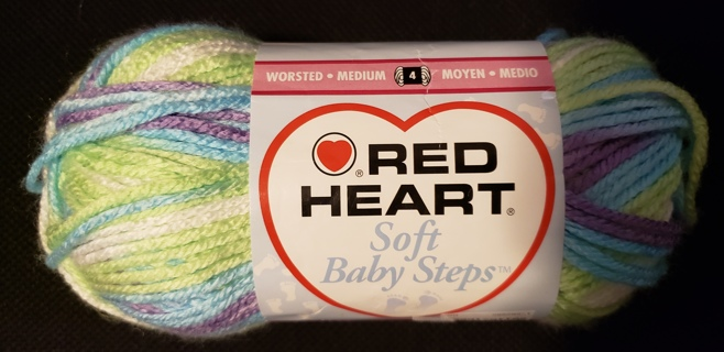 "NEW - Red Heart Soft Baby Steps Yarn - ""Tickle"""