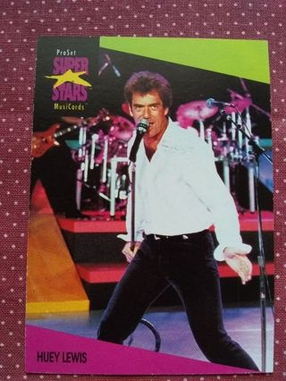 Pro Set Super Stars Music Cards Trading Card Huey Lewis