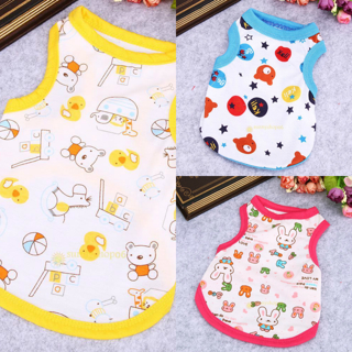 Lovely Summer Pet Puppy Dog Clothing Apparel Cat Dog Coat Vest T-shirt Costume