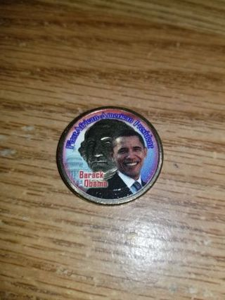 Barack Obama Colorized Washington $1 Coin,Great condition,Free Shipping!
