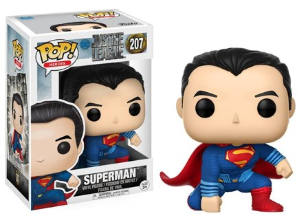 1 NEW Funko POP! Movies: DC Justice League – Superman Toy Figure Vinyl FREE SHIPPING