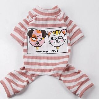 [GIN FOR FREE SHIPPING] Dog Cotton Pajamas Sleepwear Small Jumpsuit Coat New