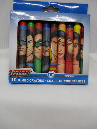 NEW JUSTICE LEAGUE 10 JUMBO CRAYONS