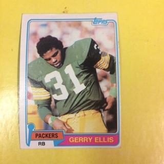 1981 Topps RC #291 RB Gerry Ellis - Packers