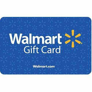 $10 gift card to Walmart