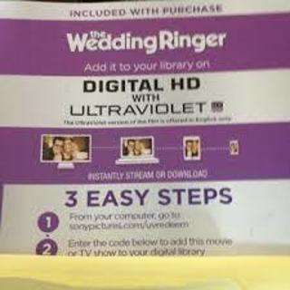 WEDDING RINGER HD UV CODE  GIN 35K