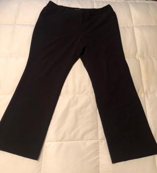 Women's Black Slacks Size 16W Made By Worthington