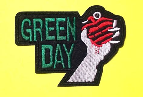 Embroidered Rock Band Green Day Iron On/Sew On Applique Badge FREE SHIPPING