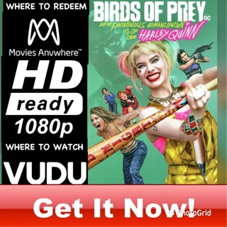 BIRDS OF PREY HD MOVIES ANYWHERE OR VUDU CODE ONLY