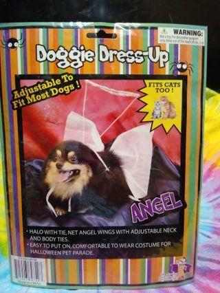 NIP DOGGIE DRESS-UP ANGEL CUSTOME FITS CATS TOO! #1
