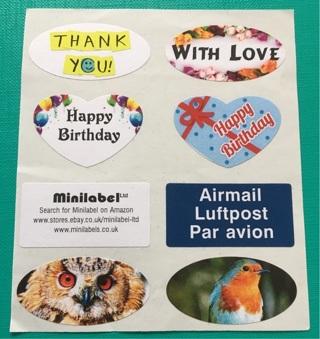 Small Sticker Sheet for Envelopes, Letters, etc.