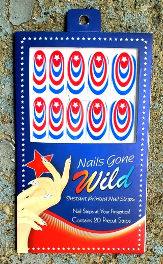 4 TH OF JULY NAIL ART STICKERS STYLE 2 CONTAINS 20 PRECUT STRIPS