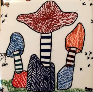 Hand drawn coasters