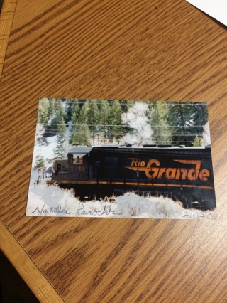 Rio Grande Train in Colorado signed print!  Free shipping!  No tracking this time!