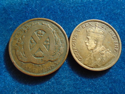 1837 & 1911 OLD CANADA COINS..FULL DATES!