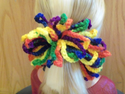 NEWLY CROCHETED MEXICANA COLORED HAIR SCRUNCHIE