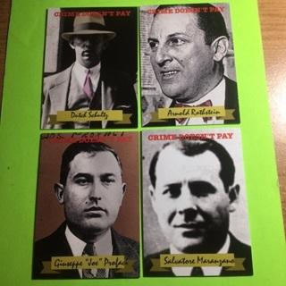 4 Historic Criminal Cards