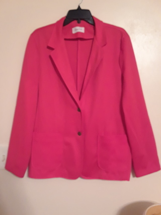 Ladies Red Dress Jacket by Cedar Hill.  Size 20.