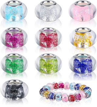 10pc Euro Assorted Rhinestone Crystal Charms Beads Lot 8 (PLEASE READ DESCRIPTION)