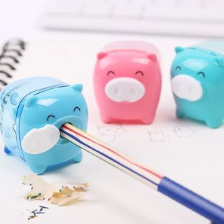 Little Pig Candy Color Pencil Sharpener Creative Kawaii Cartoon Animal Pencil Sharpener