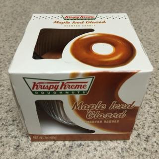 KRISPY KREME Maple Iced Glazed DONUT Doughnuts Scented CANDLE - Smells Yummy!!
