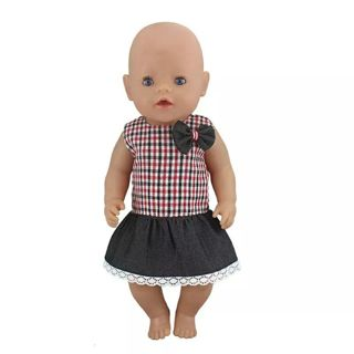 New Dress Wear For 43cm Zapf Baby Born Doll Reborn Babies Dolls Clothes