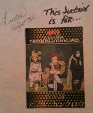 Naruto Gaara Card #46