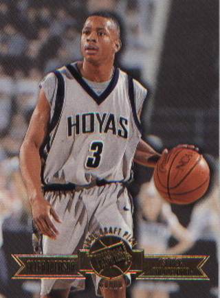 Free Allen Iverson Press Pass Gold Rookie Hoyas Card