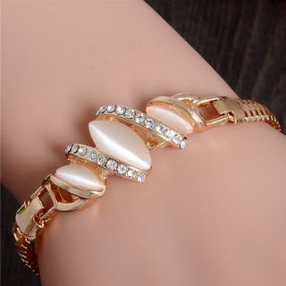 [Jewelry] 1pc Simple Austrian Crystal Bead Chain Bracelet for Woman Girl