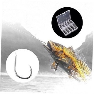 1 Set 100pcs 10 Sizes 3# - 12# Fishing Hooks Fish Tackle With Carry Box GU