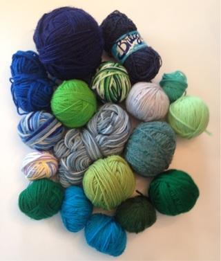 Knit & Crochet Yarn- Blue Green Lot