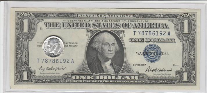 Silver Certificate Silver Dime
