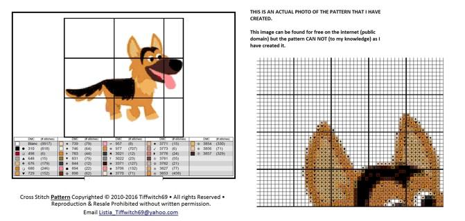German Shepard Dog Cross Stitch Patterns ***WINNERS CHOICE***