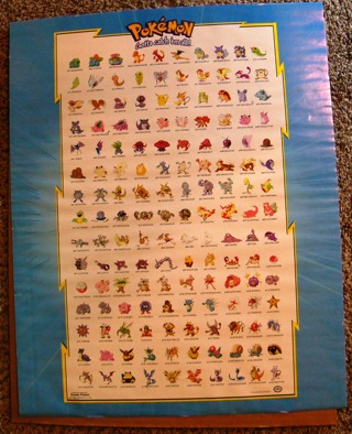 free original 150 pokemon poster other collectibles listia com