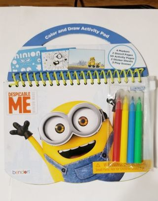 Despicable Me Color and Draw Activity Pad