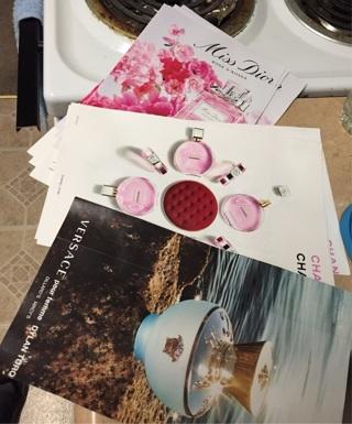 Women's Perfume Paper Samples Lot #1