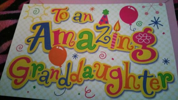 Free New To An Amazing Granddaughter Birthday Card And Envelope