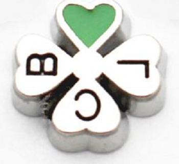 ☘️ Clover with Green Heart ☘️ Living Locket Charm ☆VERIFIED USERS ONLY PLEASE☆