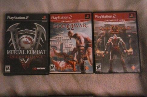 3 playstation 2 ps2 games god of war mortal kombat