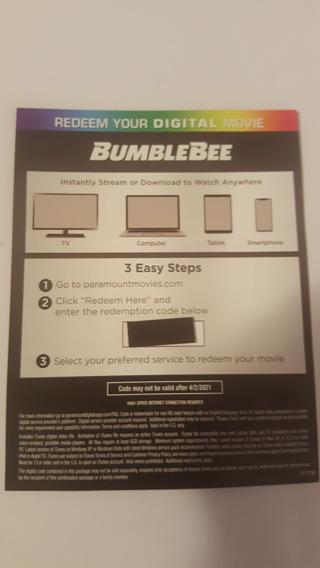 Bumblebee digital code 4k movie