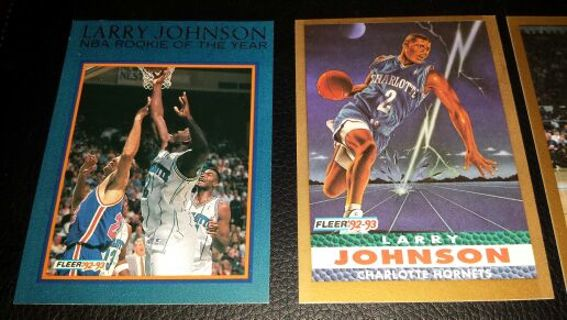 Free Larry Johnson Nba Rookie Of The Year 1992 Fleer Basketball
