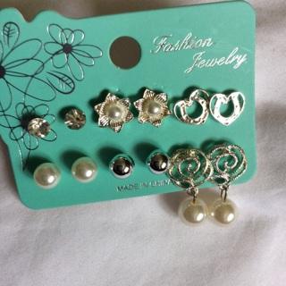 Six Pairs of Fashion Earrings .
