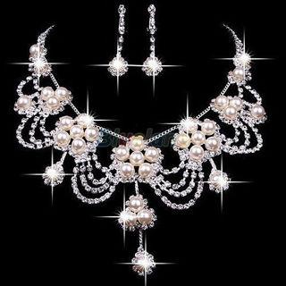 Women's Luxury  Necklace Earring Wedding Jewelry