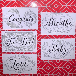 5 Color Your Own Vera Bradley Gift Tags.