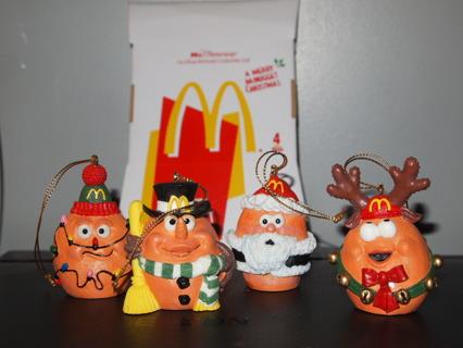 Mcdonalds Christmas Ornament.Free 1996 Mcdonald S Mcmemories Collectibles Club Lot 4 Mcnugget
